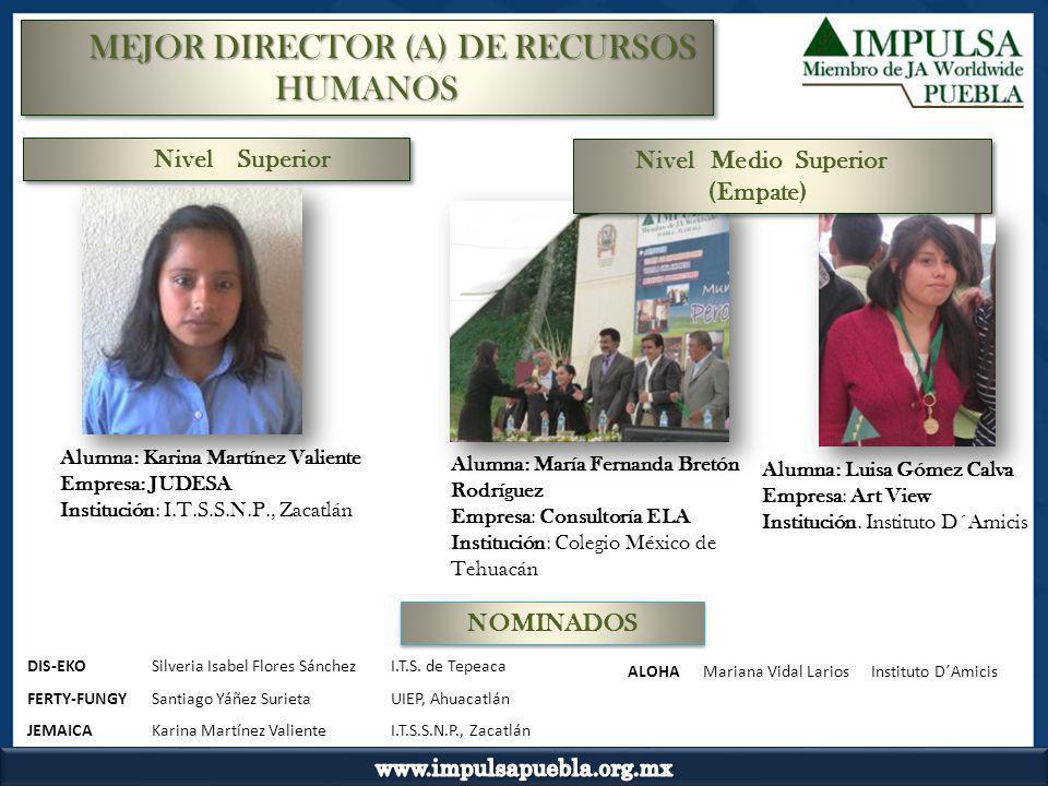 MEJOR DIRECTOR (A) DE RECURSOS HUMANOS