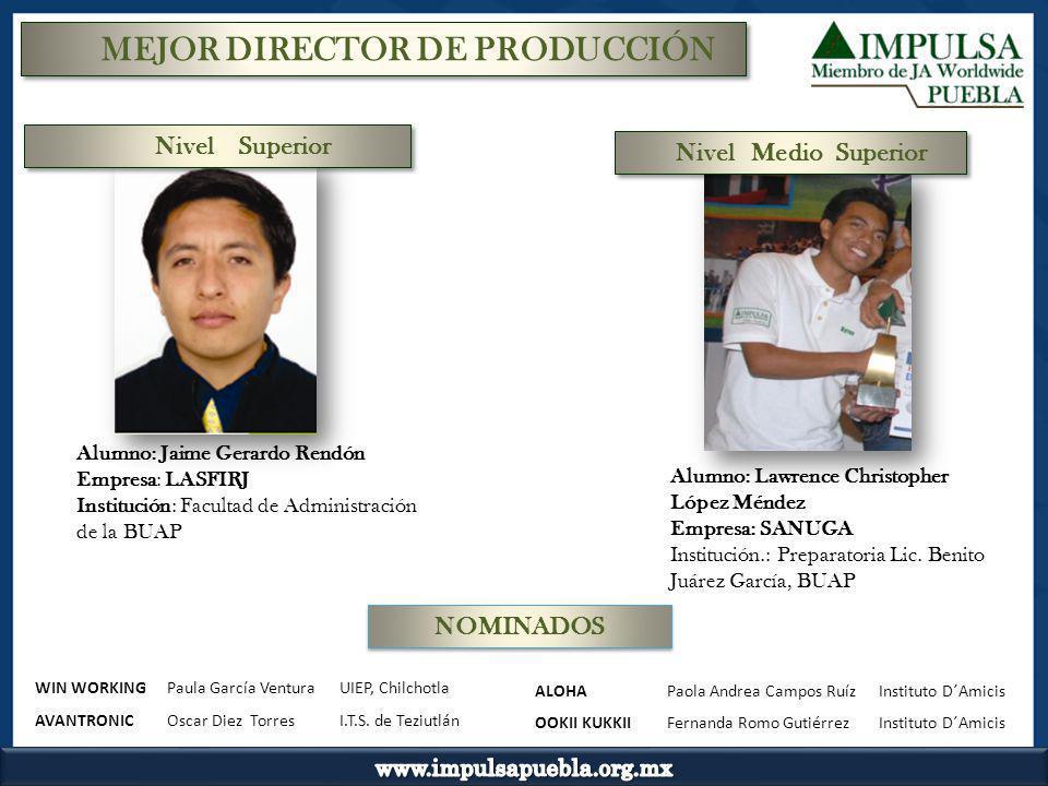 MEJOR DIRECTOR DE PRODUCCIÓN