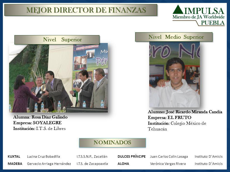MEJOR DIRECTOR DE FINANZAS
