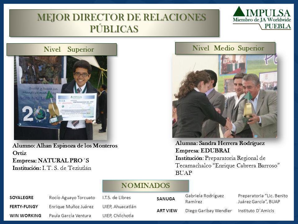 MEJOR DIRECTOR DE RELACIONES PÚBLICAS