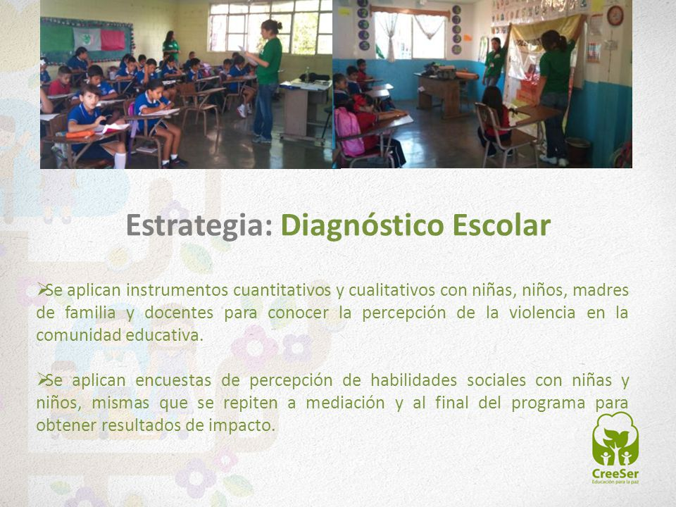 Estrategia: Diagnóstico Escolar