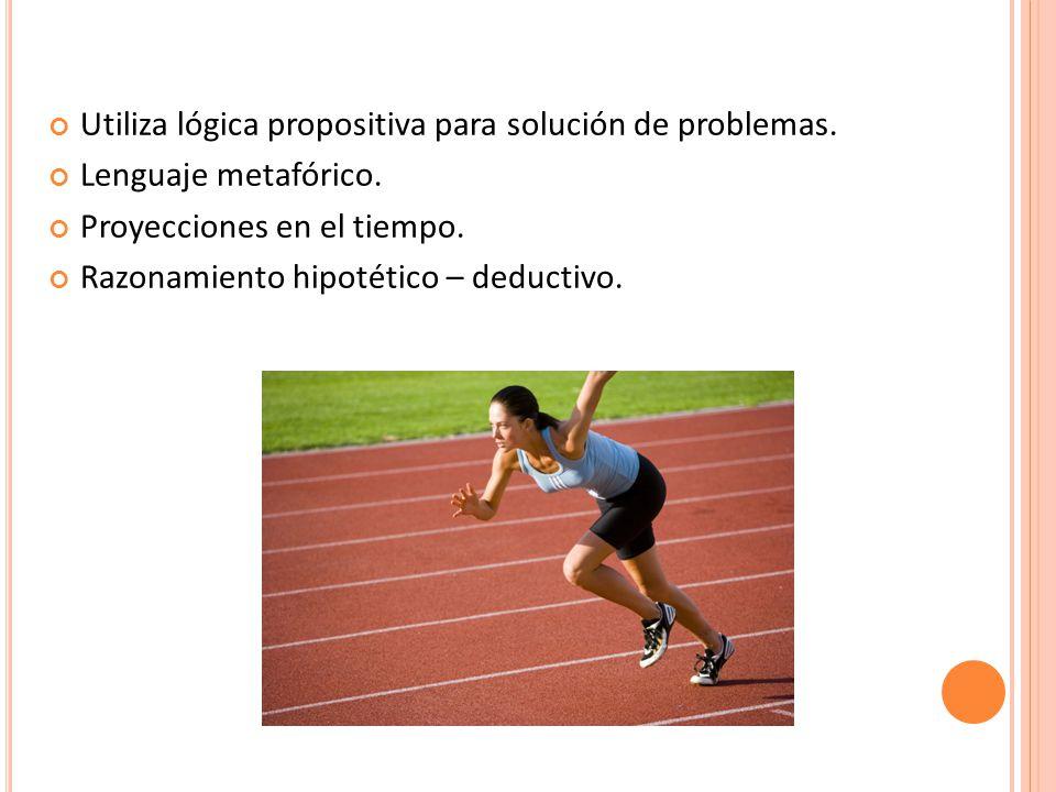 Utiliza lógica propositiva para solución de problemas.