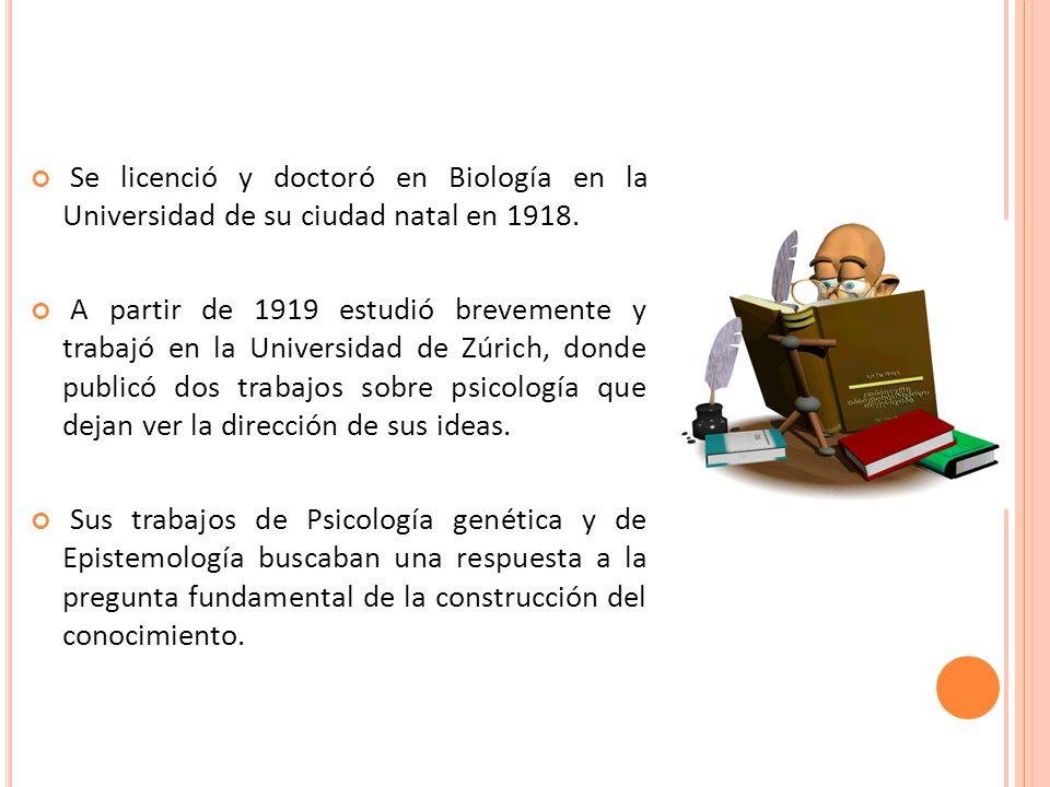 Se licenció y doctoró en Biología en la Universidad de su ciudad natal en 1918.