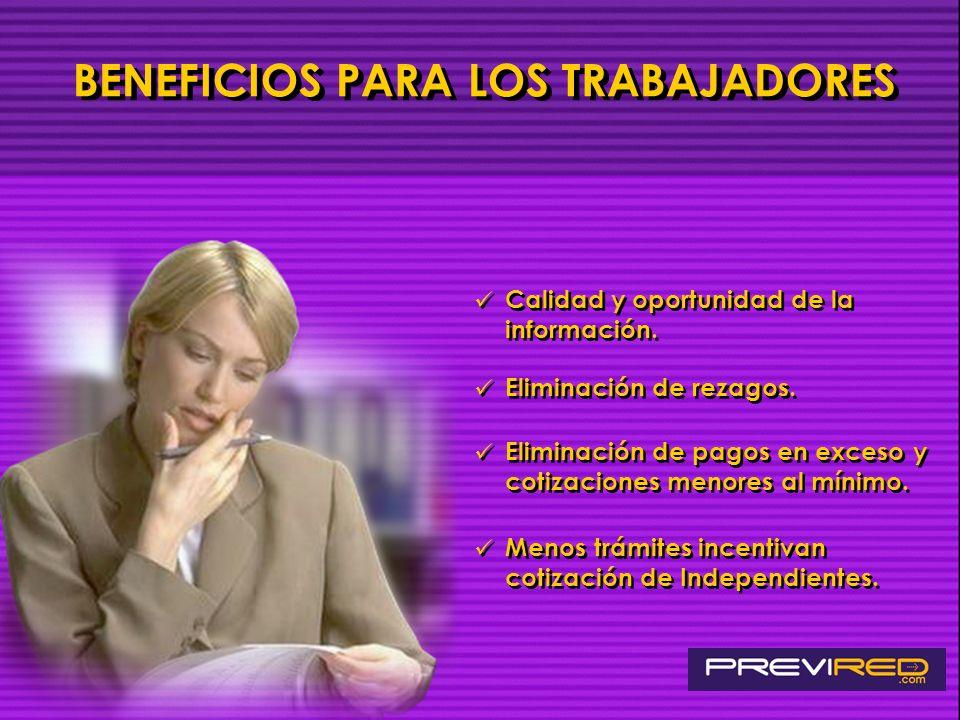 BENEFICIOS PARA LOS TRABAJADORES