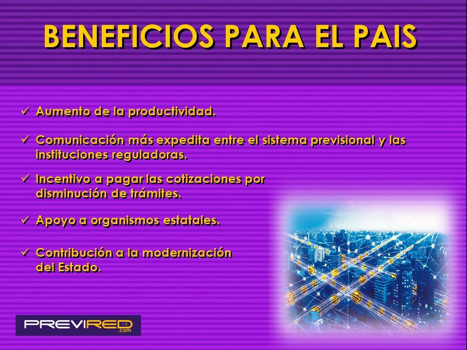 BENEFICIOS PARA EL PAIS