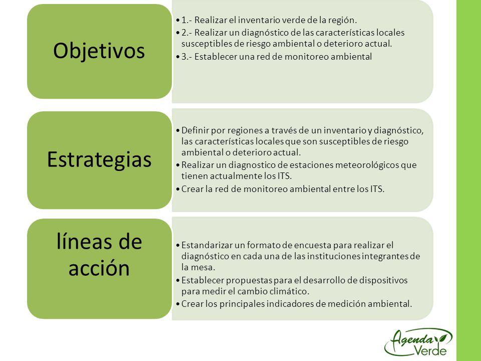 Objetivos Estrategias líneas de acción