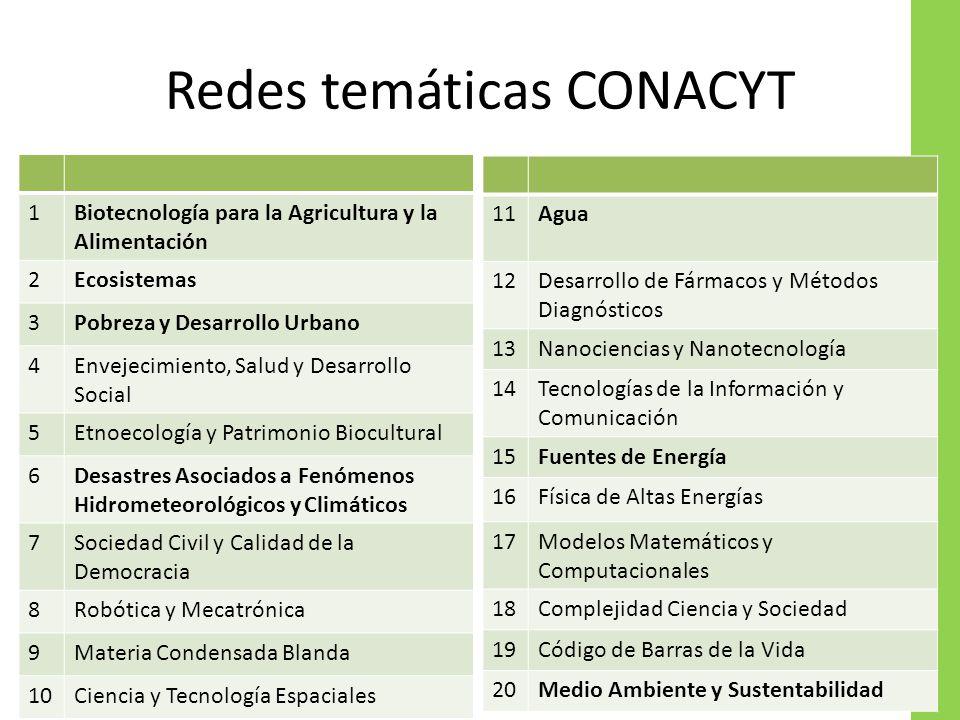 Redes temáticas CONACYT