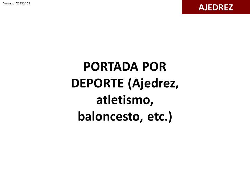 PORTADA POR DEPORTE (Ajedrez, atletismo, baloncesto, etc.)