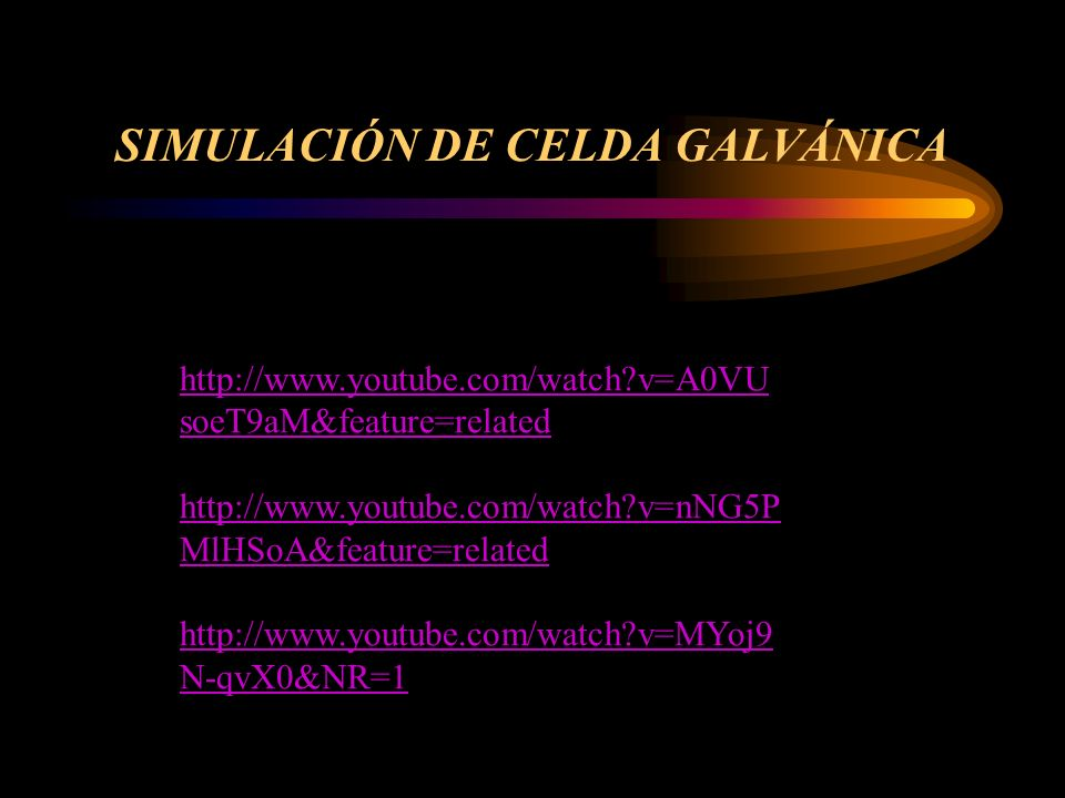 SIMULACIÓN DE CELDA GALVÁNICA