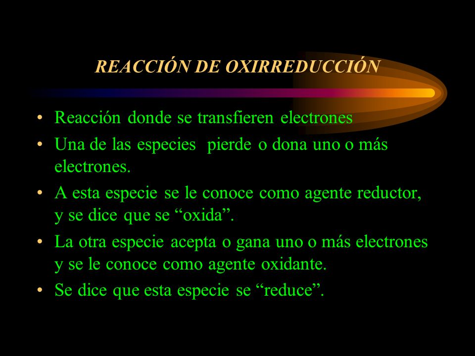 REACCIÓN DE OXIRREDUCCIÓN