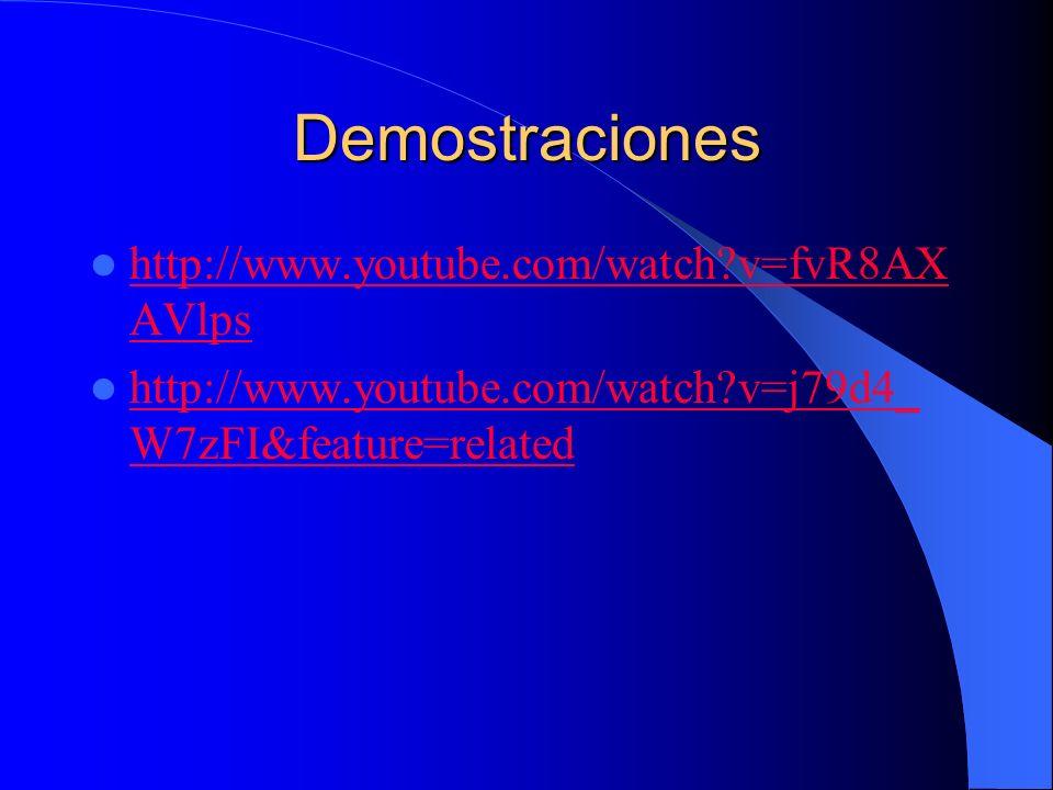 Demostraciones http://www.youtube.com/watch v=fvR8AXAVlps