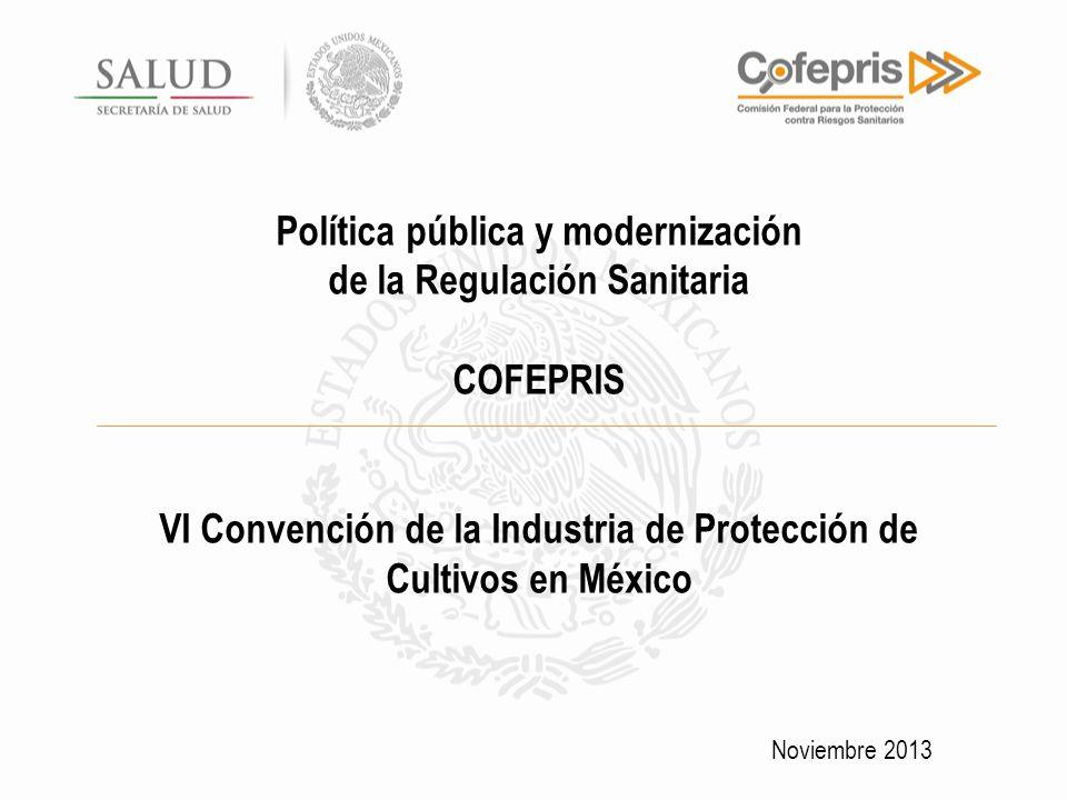 Política pública y modernización de la Regulación Sanitaria COFEPRIS