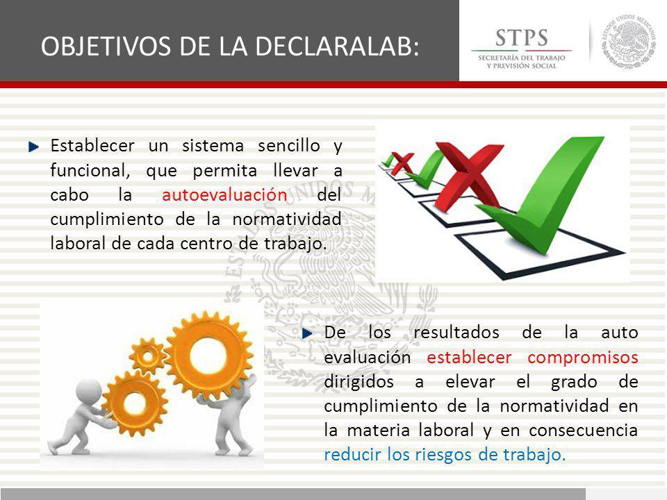 OBJETIVOS DE LA DECLARALAB: