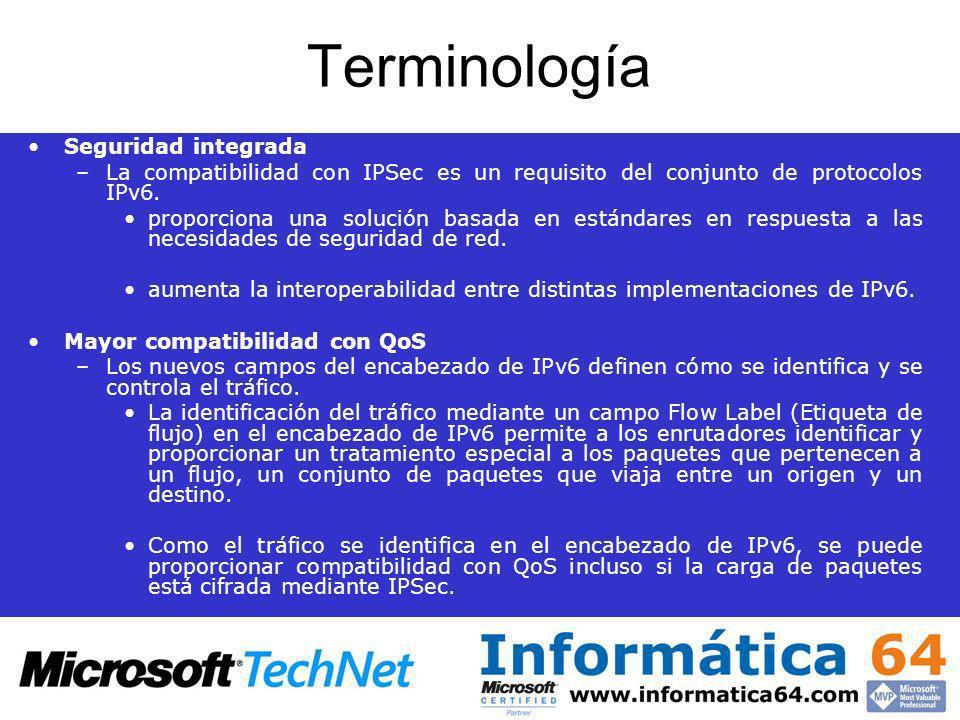 Terminología Seguridad integrada