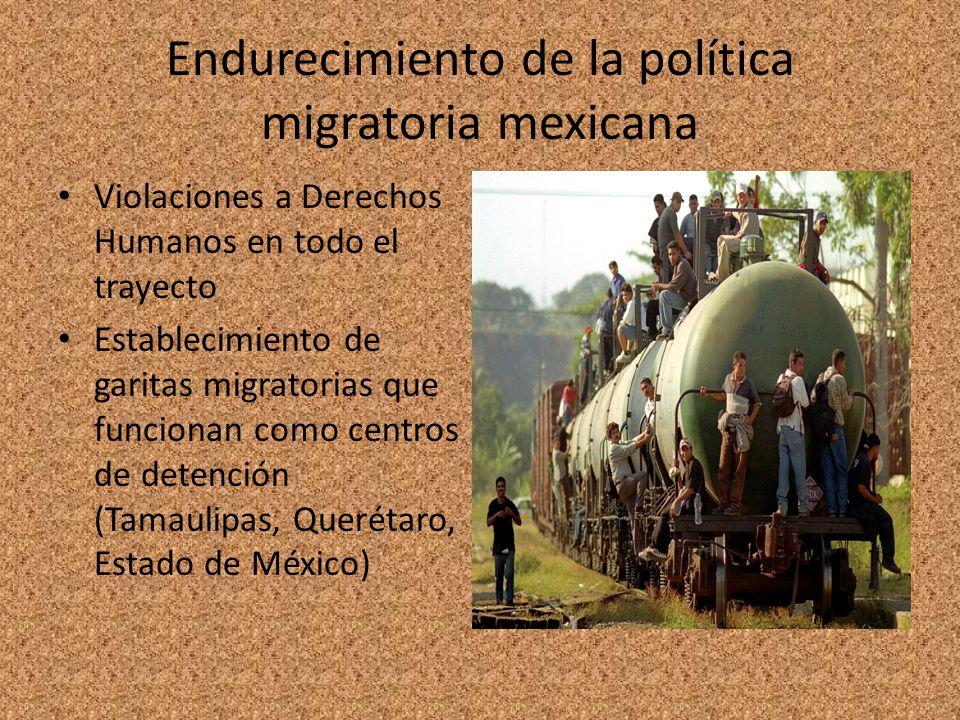 Endurecimiento de la política migratoria mexicana