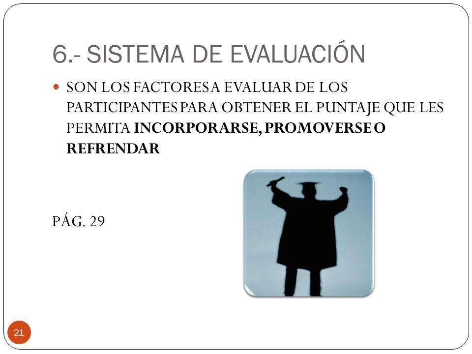 6.- SISTEMA DE EVALUACIÓN