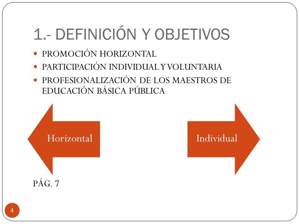 1.- DEFINICIÓN Y OBJETIVOS