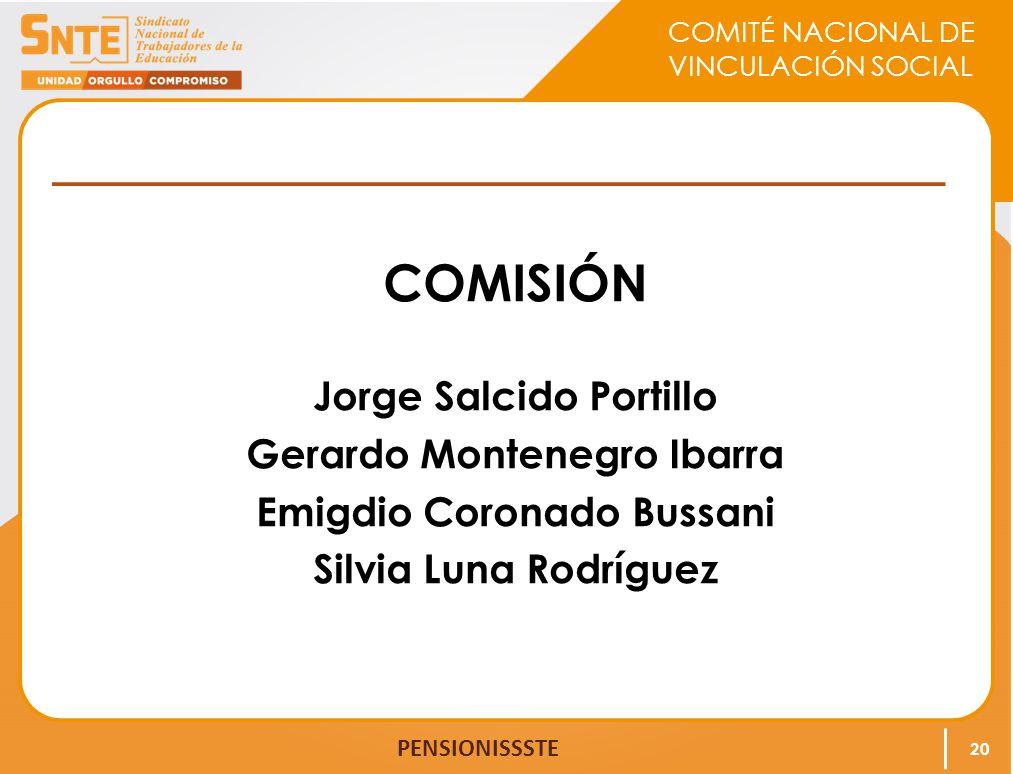 COMISIÓN Jorge Salcido Portillo Gerardo Montenegro Ibarra