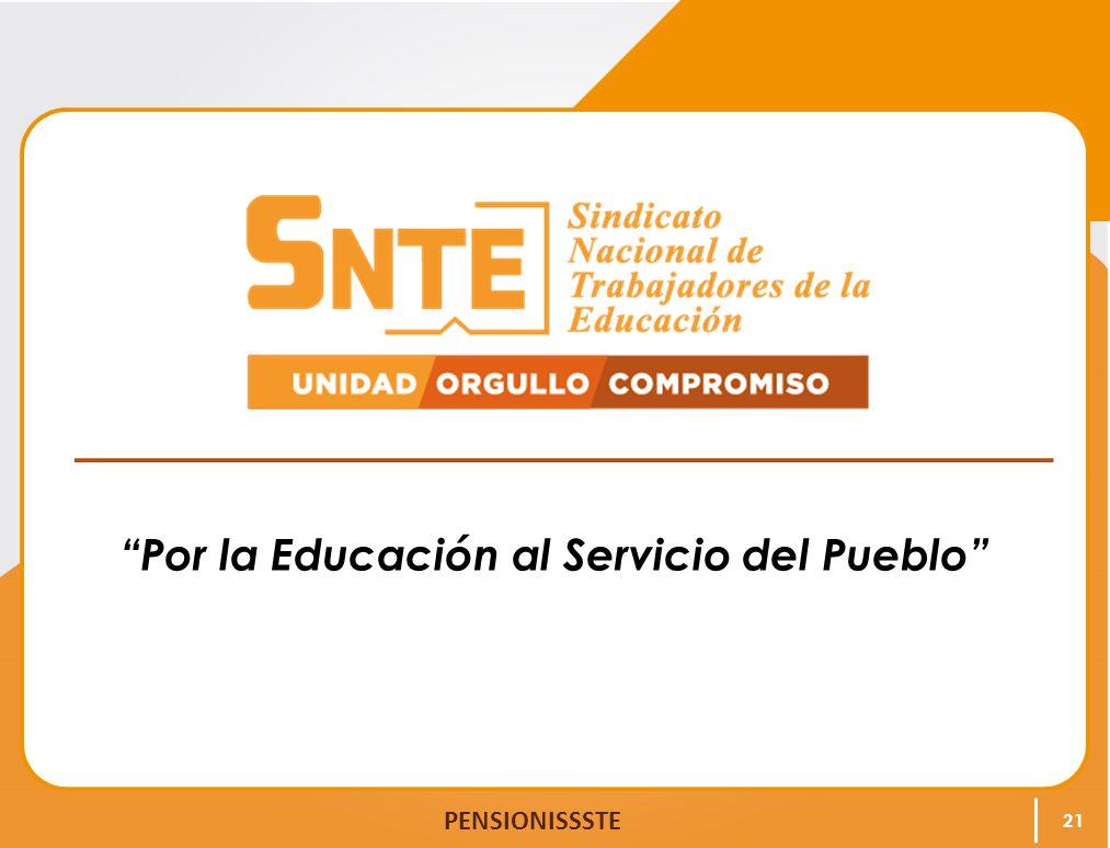 Por la Educación al Servicio del Pueblo