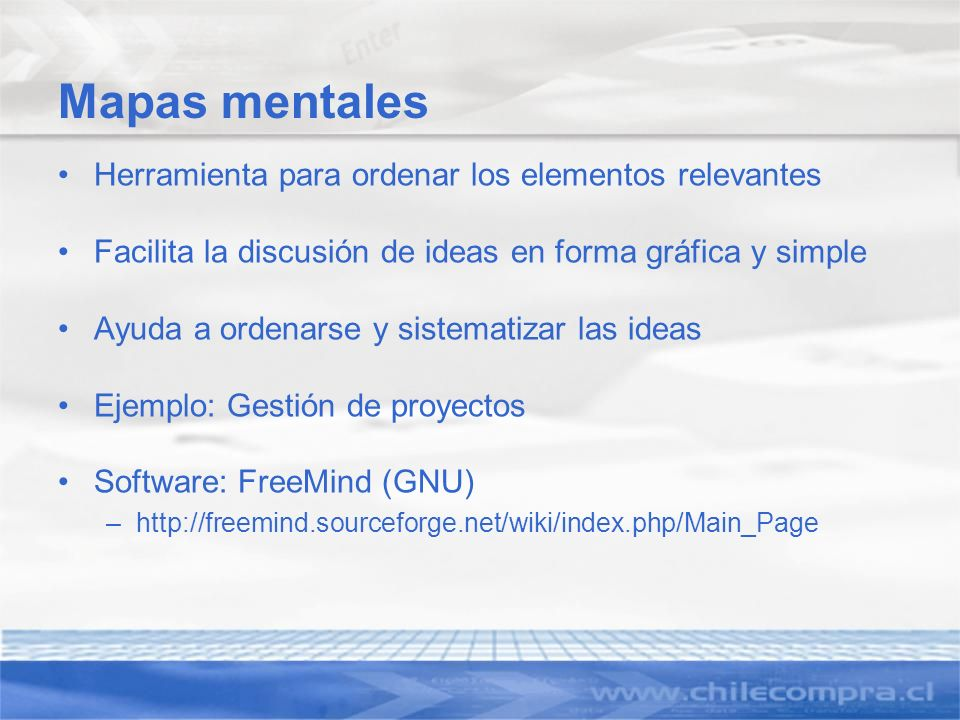 Mapas mentales Herramienta para ordenar los elementos relevantes