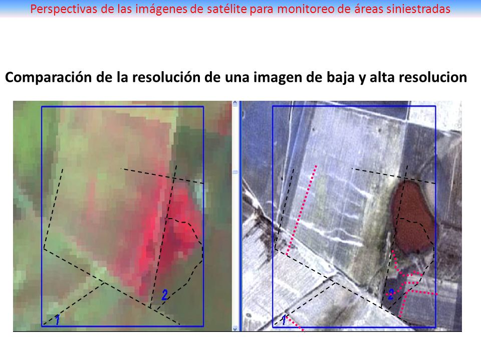 Comparación de la resolución de una imagen de baja y alta resolucion