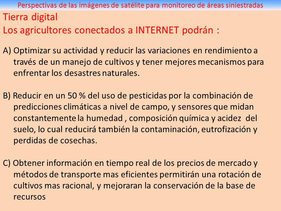 Los agricultores conectados a INTERNET podrán :