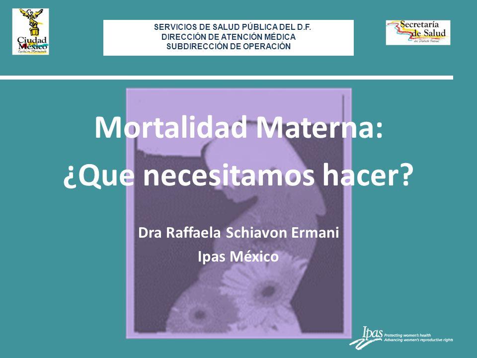Mortalidad Materna: ¿Que necesitamos hacer