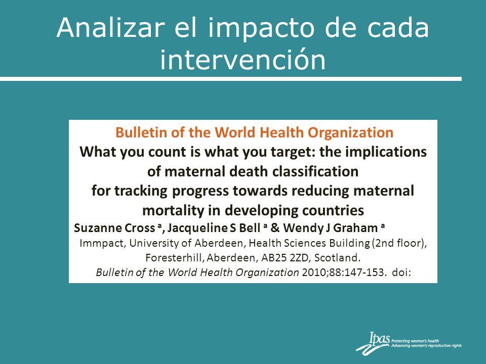 Analizar el impacto de cada intervención