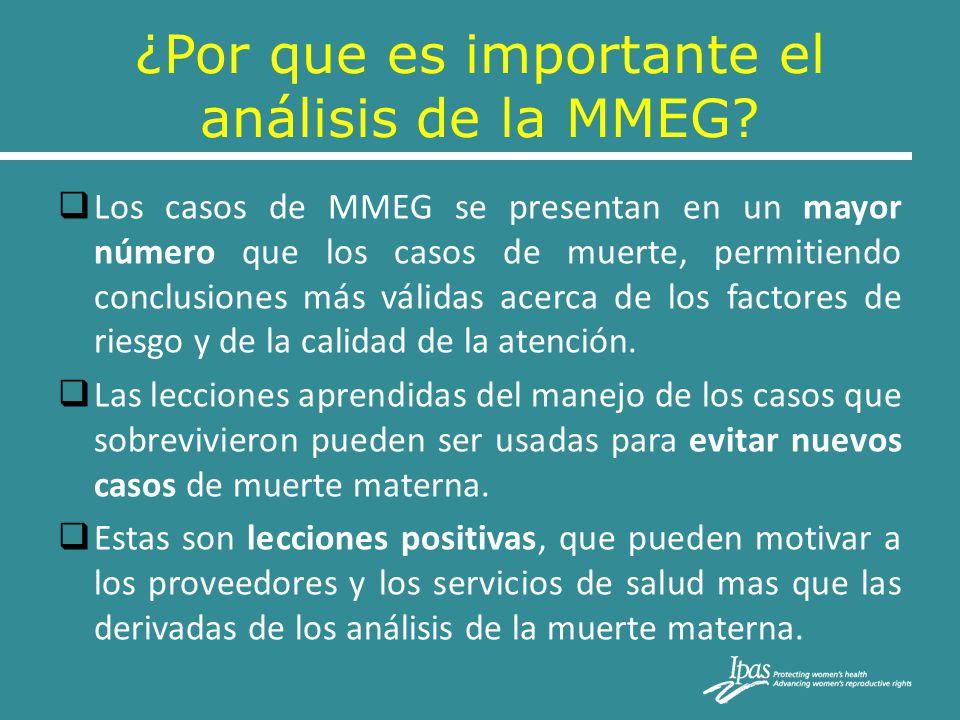 ¿Por que es importante el análisis de la MMEG