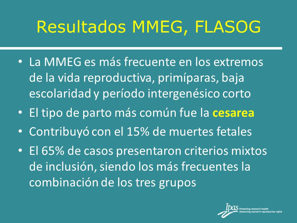 Resultados MMEG, FLASOG