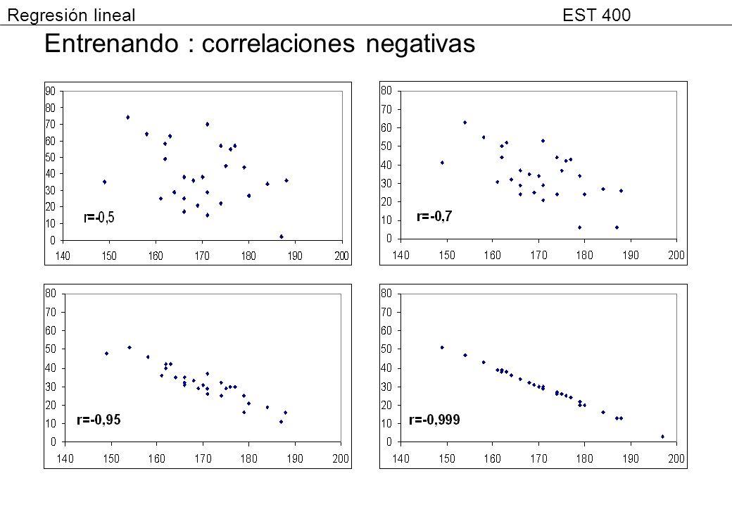Entrenando : correlaciones negativas