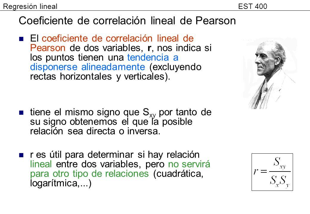 Coeficiente de correlación lineal de Pearson