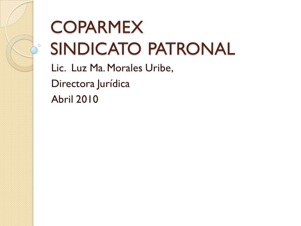 COPARMEX SINDICATO PATRONAL