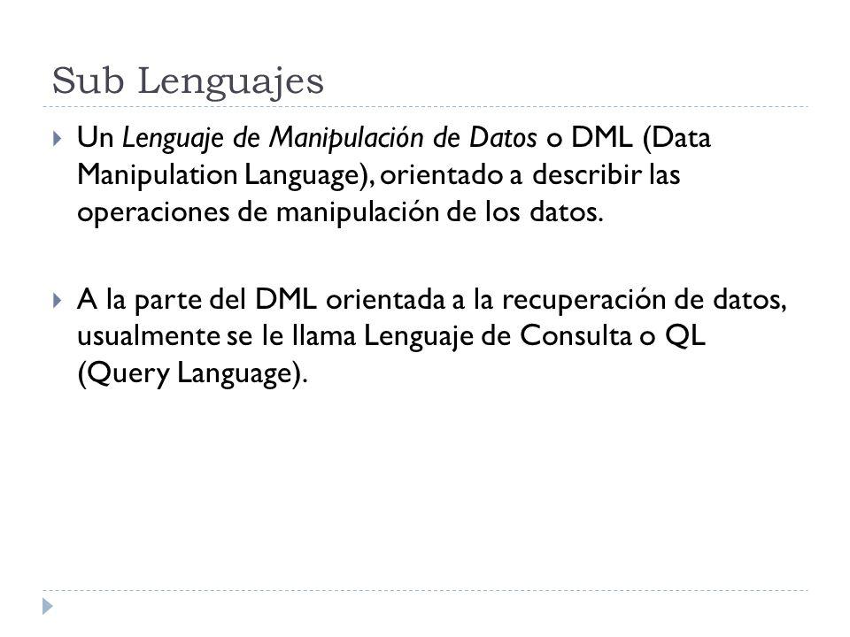 Sub Lenguajes