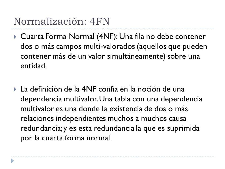 Normalización: 4FN