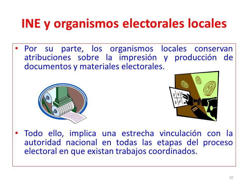 INE y organismos electorales locales