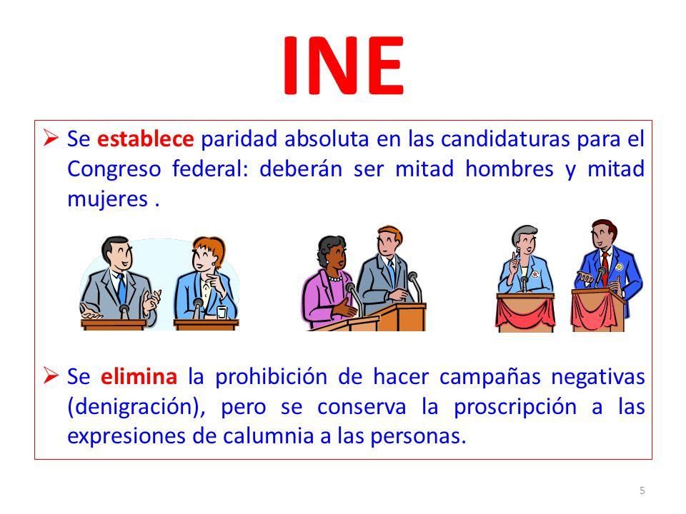 INE Se establece paridad absoluta en las candidaturas para el Congreso federal: deberán ser mitad hombres y mitad mujeres .