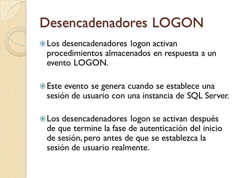 Desencadenadores LOGON