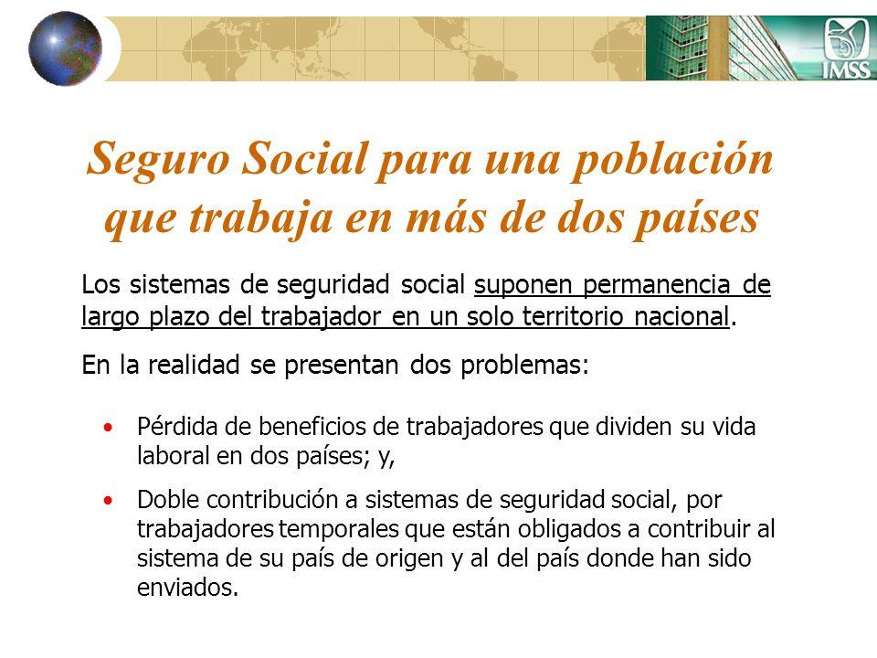 Seguro Social para una población que trabaja en más de dos países