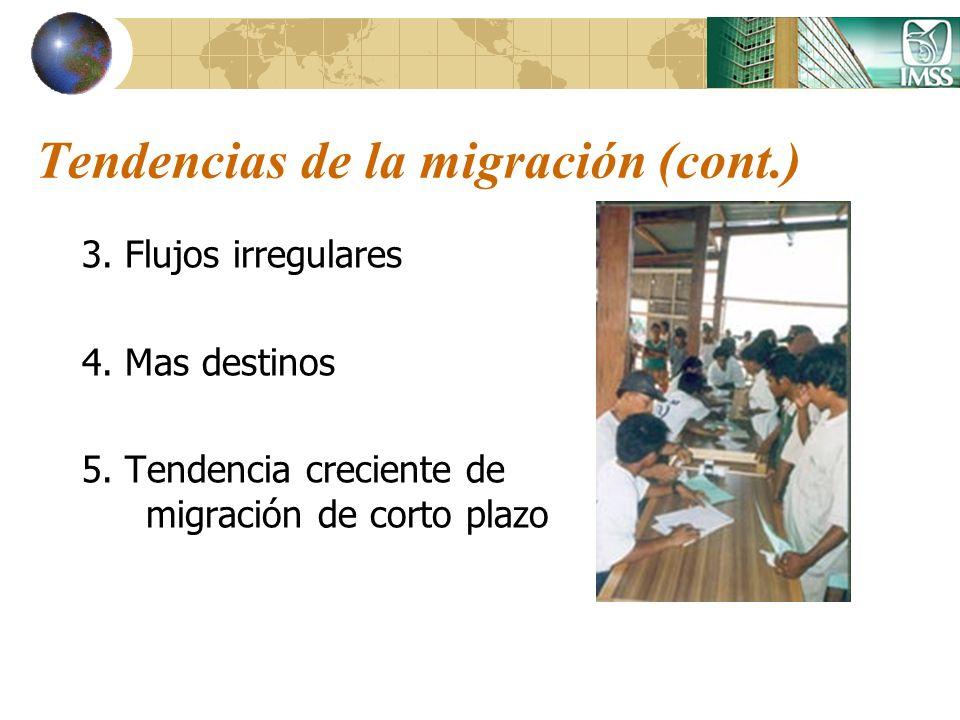 Tendencias de la migración (cont.)