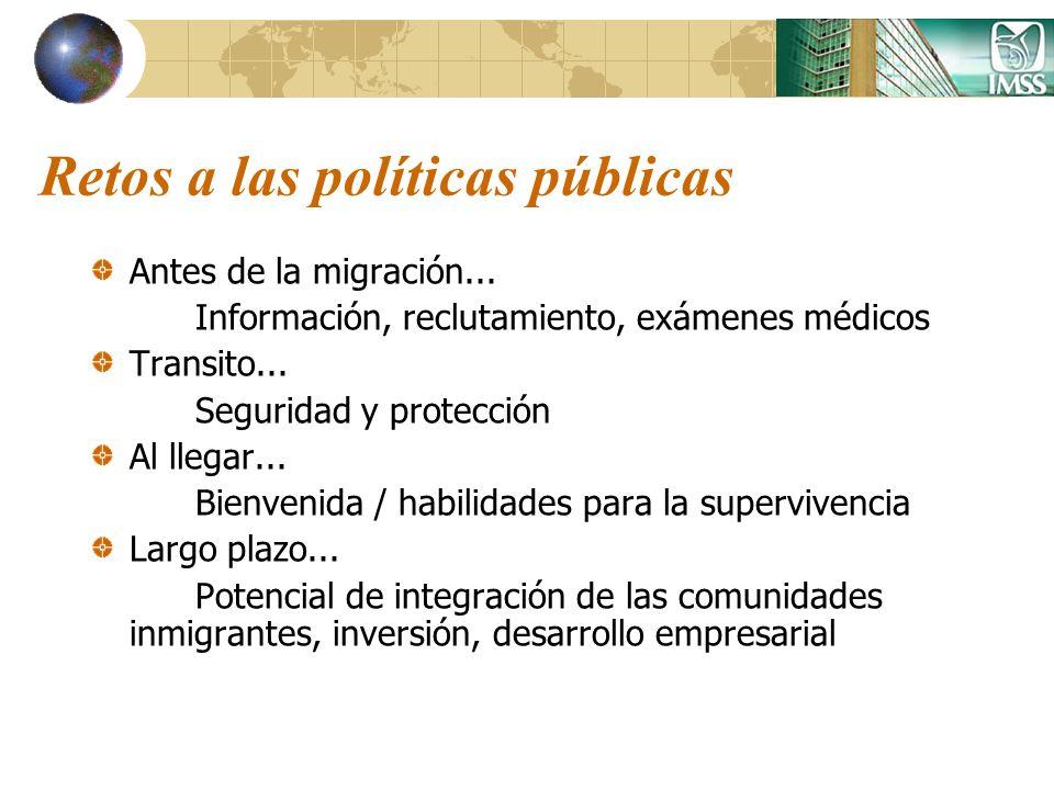 Retos a las políticas públicas