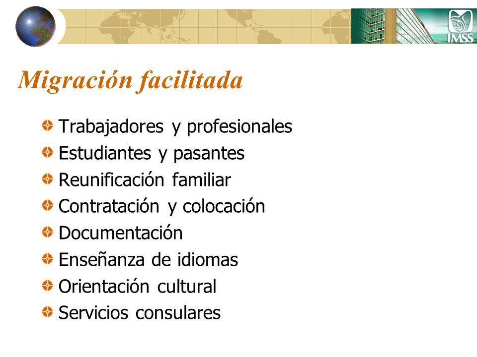 Migración facilitada Trabajadores y profesionales