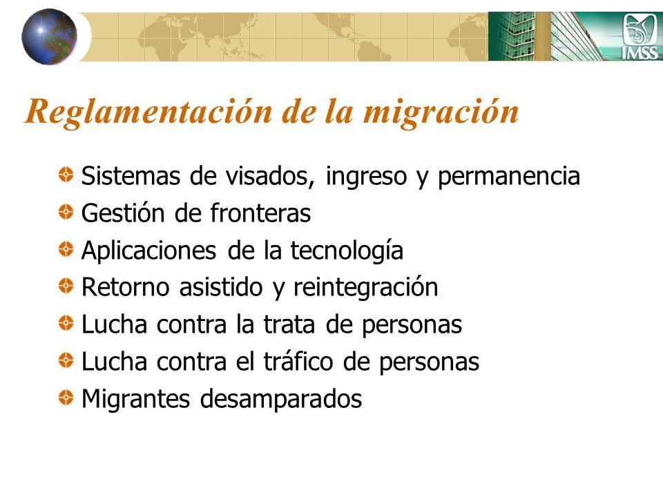 Reglamentación de la migración