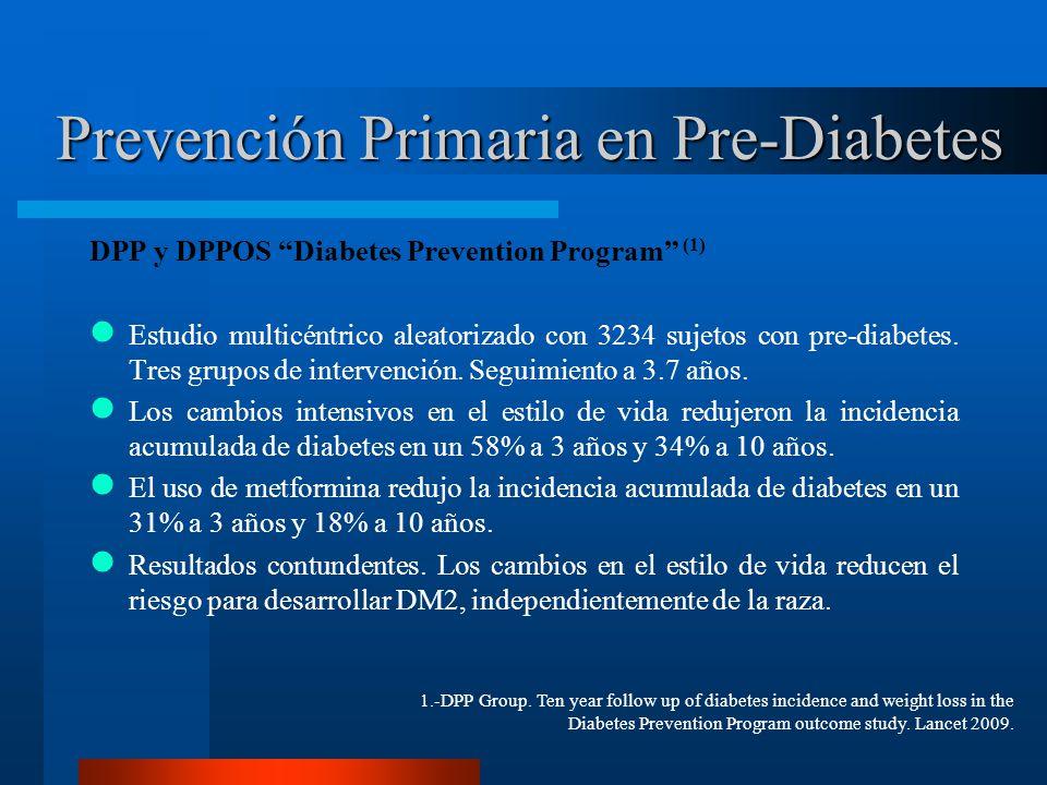 Prevención Primaria en Pre-Diabetes