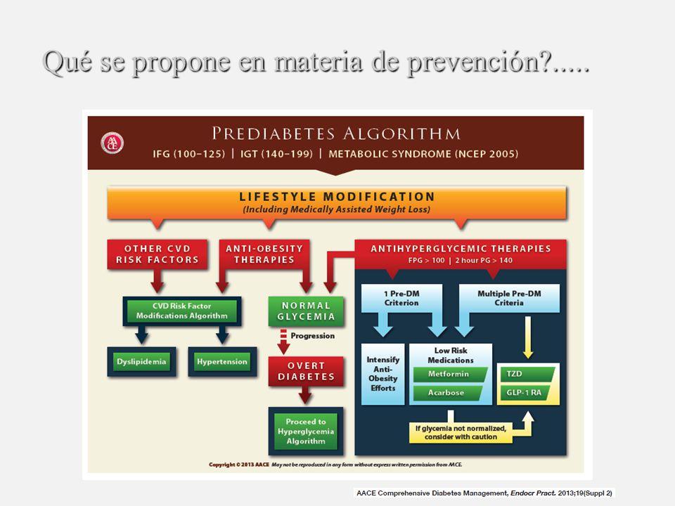 Qué se propone en materia de prevención .....