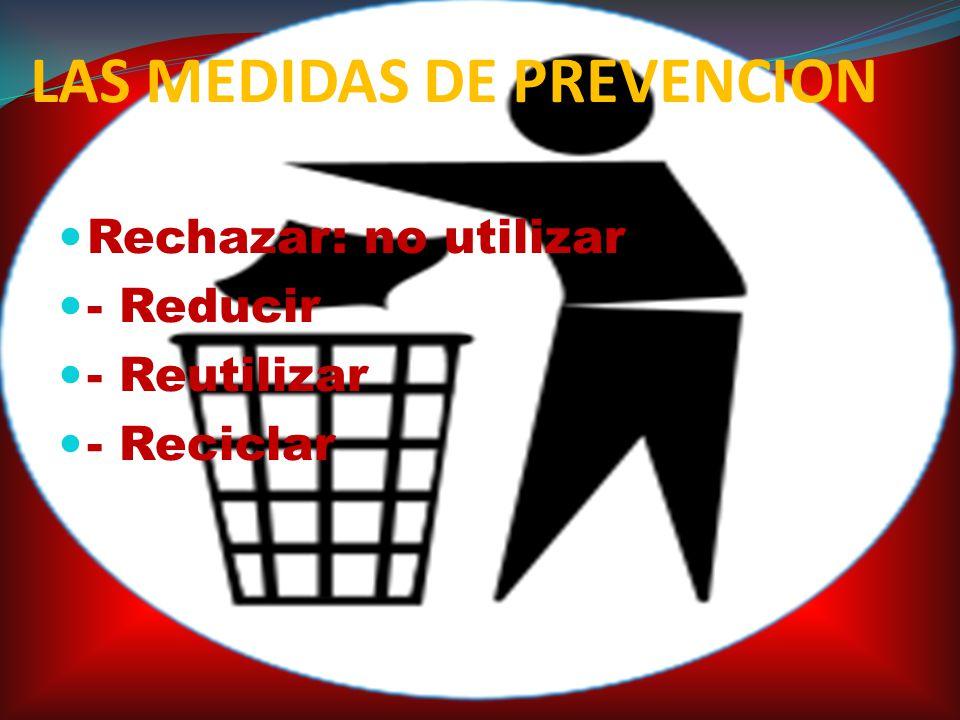 LAS MEDIDAS DE PREVENCION