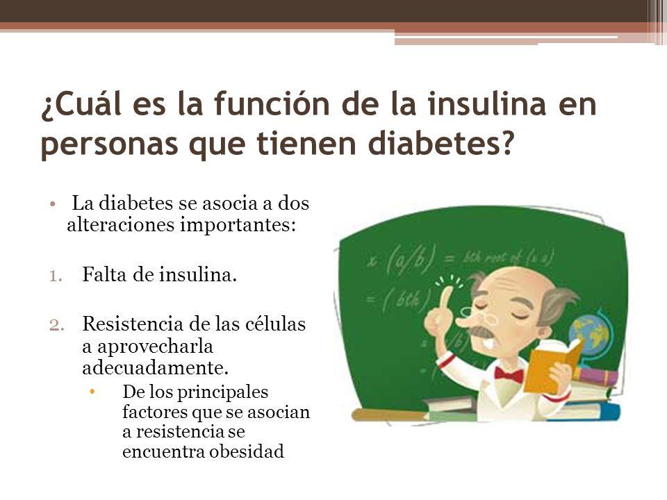 ¿Cuál es la función de la insulina en personas que tienen diabetes