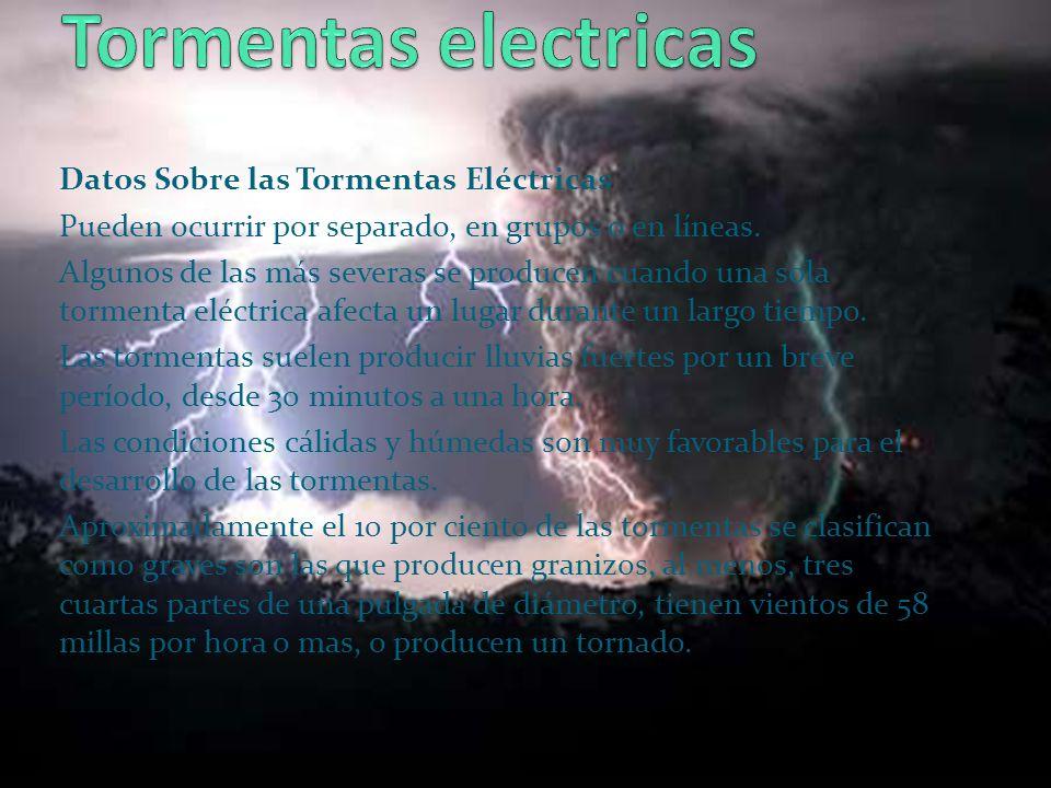 Tormentas electricas Datos Sobre las Tormentas Eléctricas