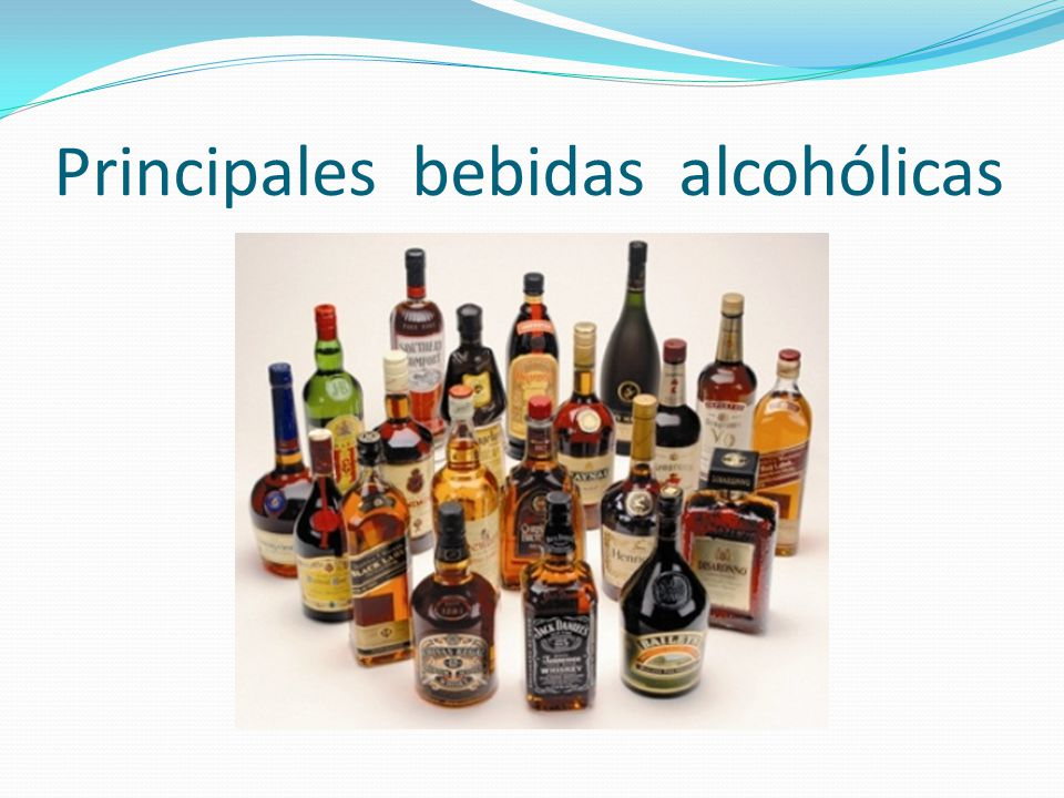 Principales bebidas alcohólicas