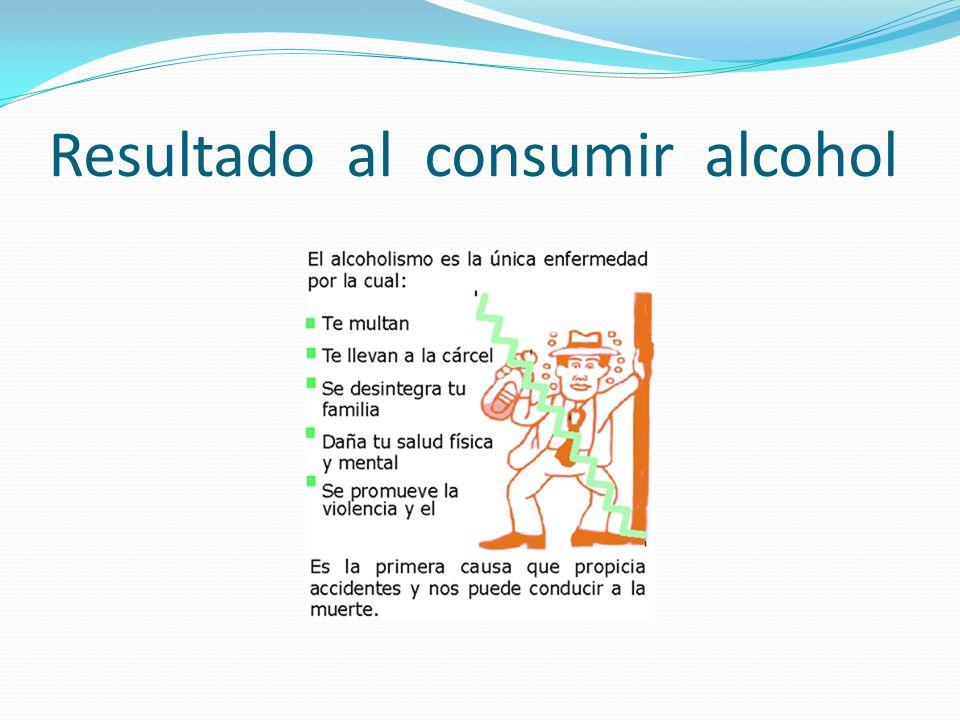 Resultado al consumir alcohol